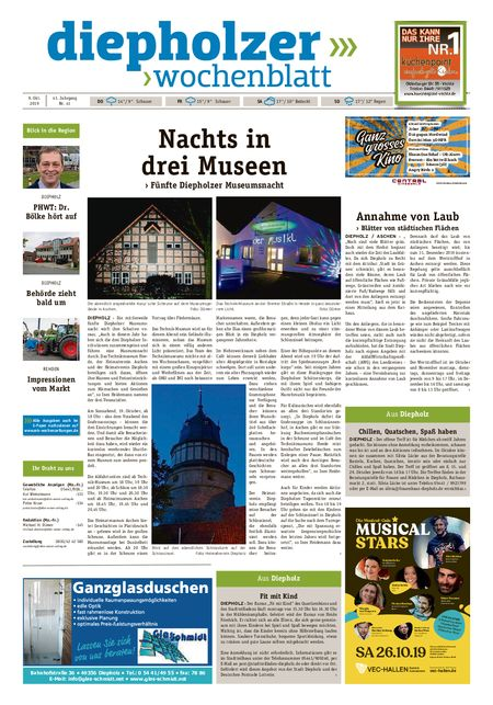 Diepholzer Wochenblatt vom 09.10.2019