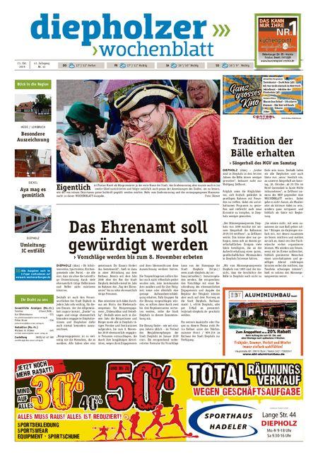 Diepholzer Wochenblatt vom 23.10.2019