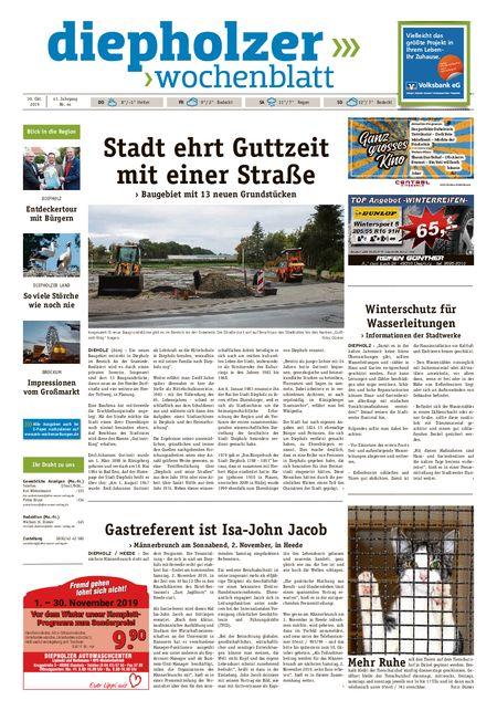 Diepholzer Wochenblatt vom 30.10.2019