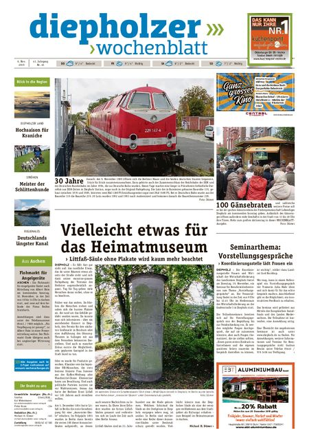 Diepholzer Wochenblatt vom 06.11.2019