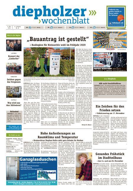 Diepholzer Wochenblatt vom 13.11.2019