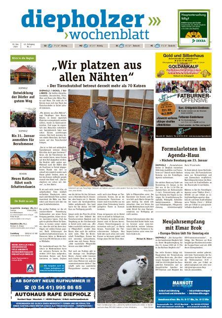 Diepholzer Wochenblatt vom 18.01.2020
