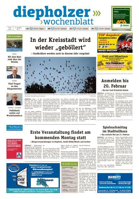 Diepholzer Wochenblatt vom 08.02.2020