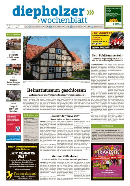 Diepholzer Wochenblatt vom 21.03.2020