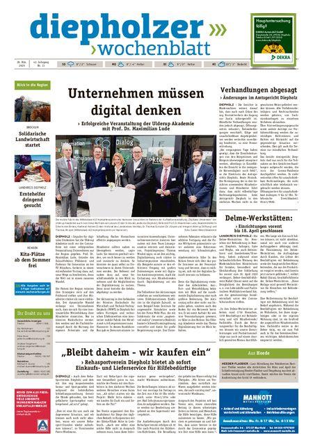 Diepholzer Wochenblatt vom 28.03.2020