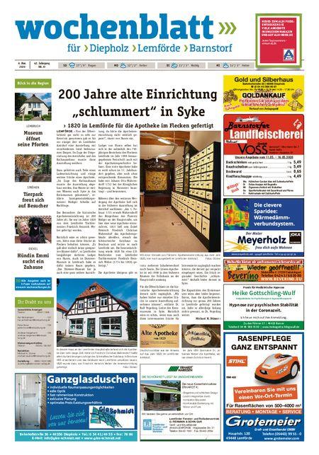 Diepholzer Wochenblatt vom 09.05.2020