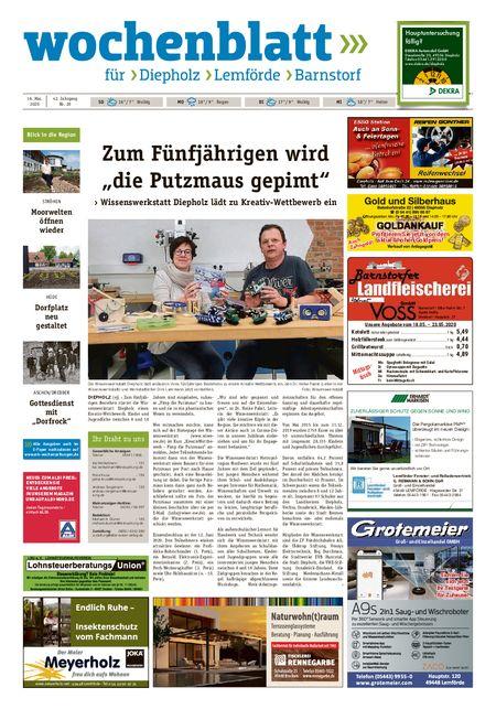 Diepholzer Wochenblatt vom 16.05.2020