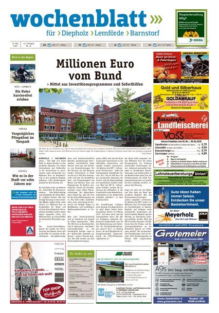 Diepholzer Wochenblatt vom 30.05.2020