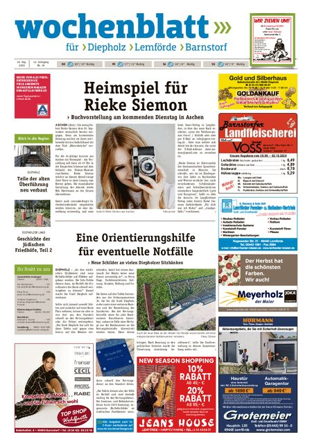 Diepholzer Wochenblatt vom 26.09.2020