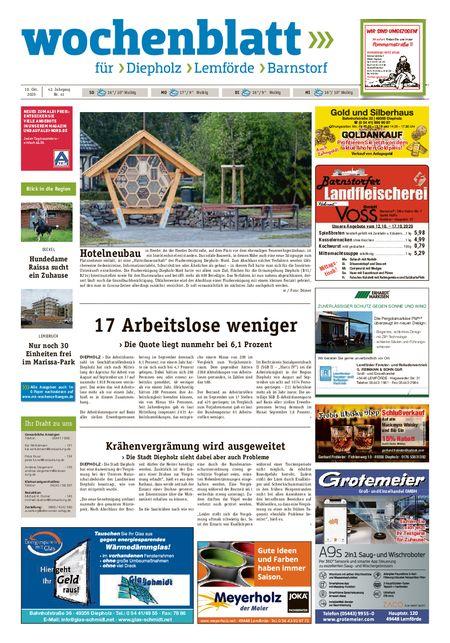 Diepholzer Wochenblatt vom 10.10.2020