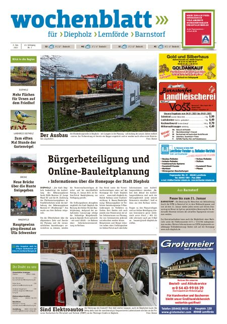 Diepholzer Wochenblatt vom 02.01.2021
