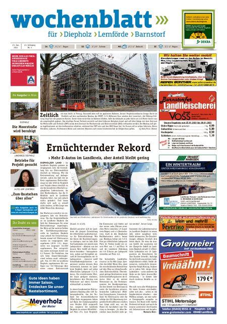 Diepholzer Wochenblatt vom 23.01.2021