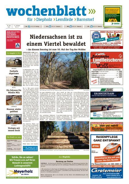 Diepholzer Wochenblatt vom 20.03.2021