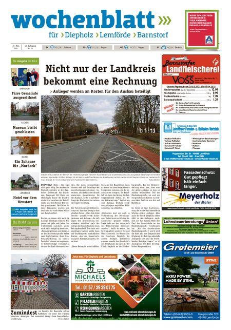 Diepholzer Wochenblatt vom 27.03.2021