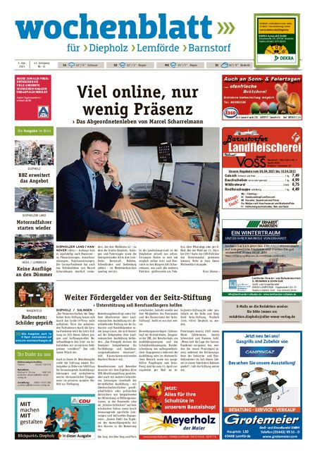 Diepholzer Wochenblatt vom 03.04.2021