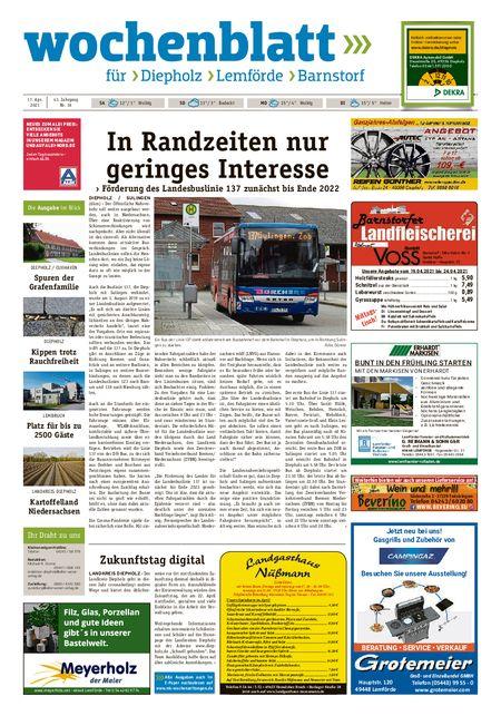 Diepholzer Wochenblatt vom 17.04.2021