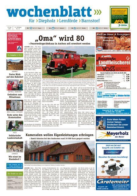 Diepholzer Wochenblatt vom 30.04.2021