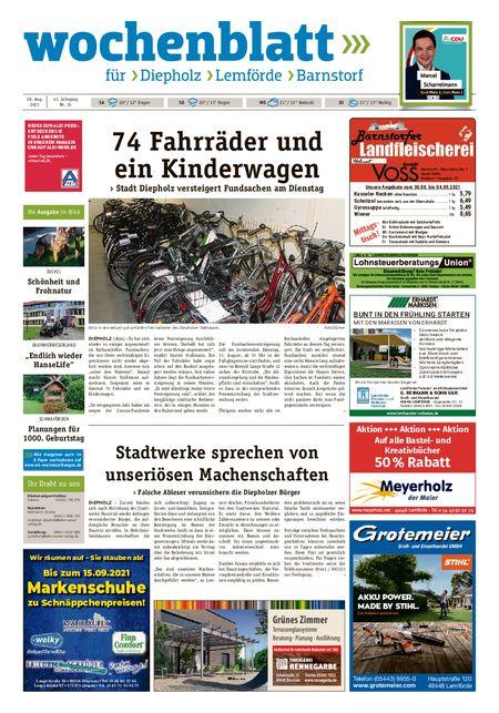 Diepholzer Wochenblatt vom 28.08.2021