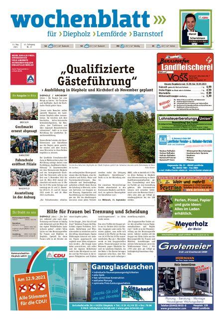 Diepholzer Wochenblatt vom 11.09.2021