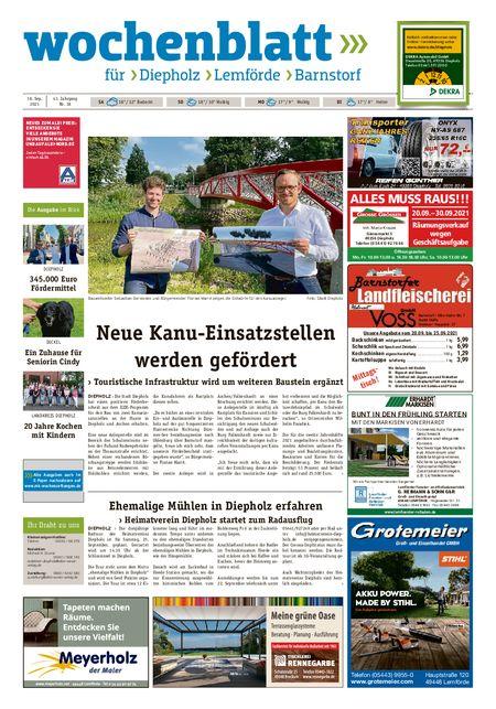 Diepholzer Wochenblatt vom 18.09.2021