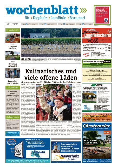 Diepholzer Wochenblatt vom 09.10.2021