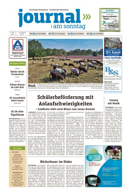 Journal am Sonntag vom 31.08.2019