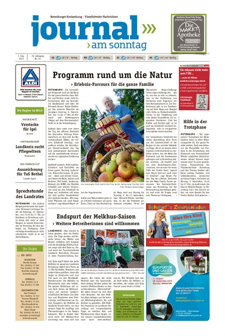 Journal am Sonntag vom 07.09.2019