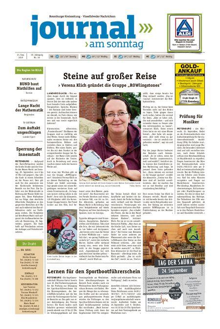 Journal am Sonntag vom 21.09.2019