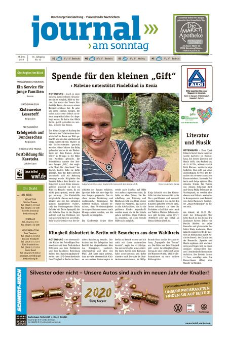 Journal am Sonntag vom 28.12.2019