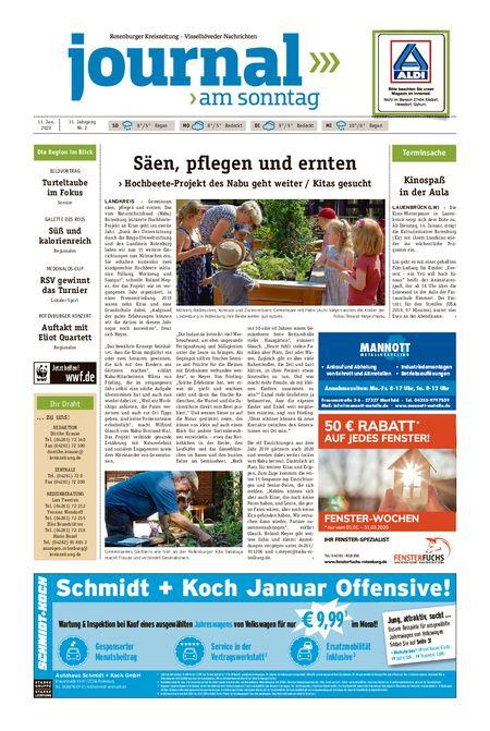 Journal am Sonntag vom 11.01.2020