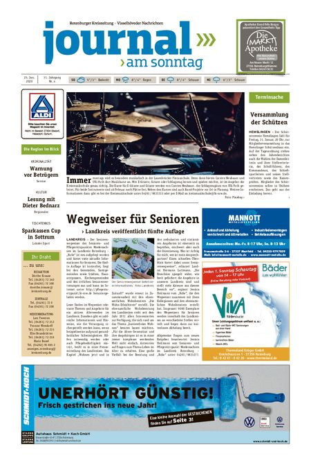 Journal am Sonntag vom 25.01.2020