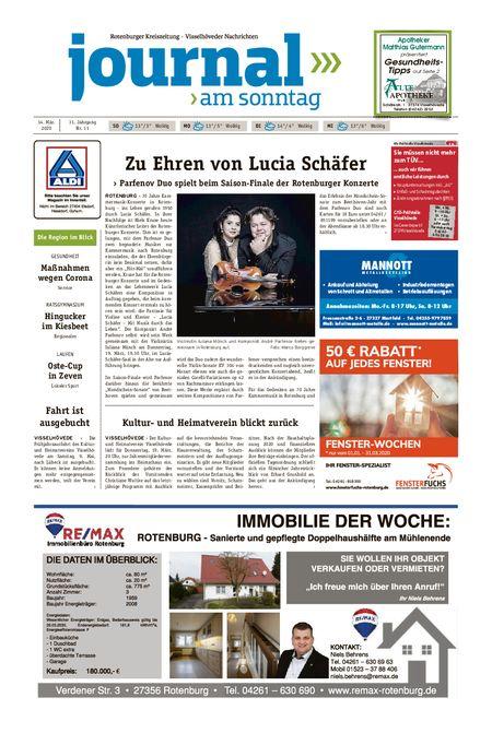 Journal am Sonntag vom 14.03.2020