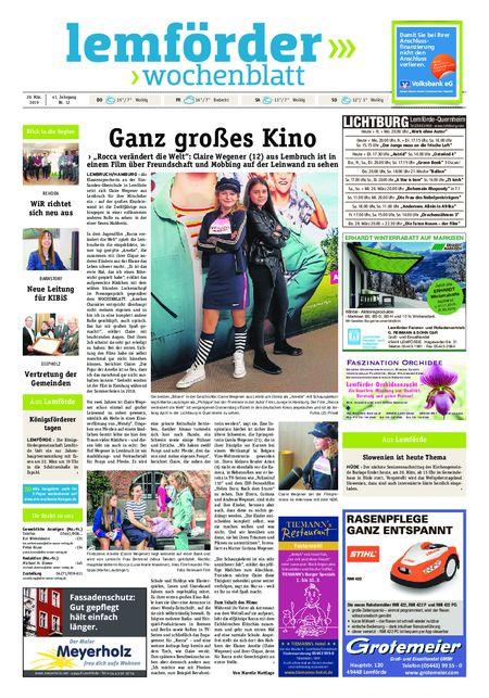 Lemförder Wochenblatt vom 20.03.2019