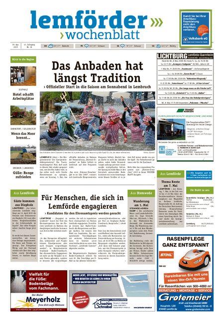 Lemförder Wochenblatt vom 30.04.2019