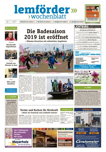 Lemförder Wochenblatt vom 08.05.2019