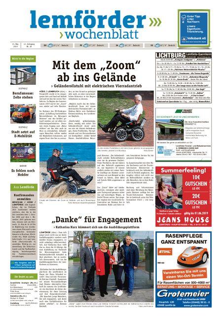 Lemförder Wochenblatt vom 15.05.2019