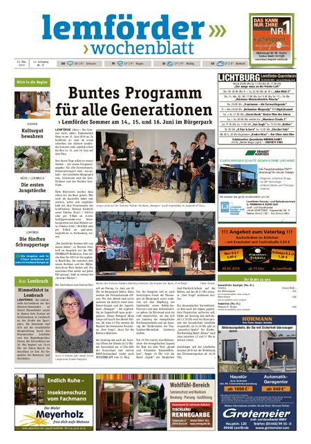 Lemförder Wochenblatt vom 22.05.2019