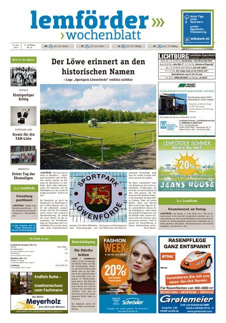 Lemförder Wochenblatt vom 12.06.2019