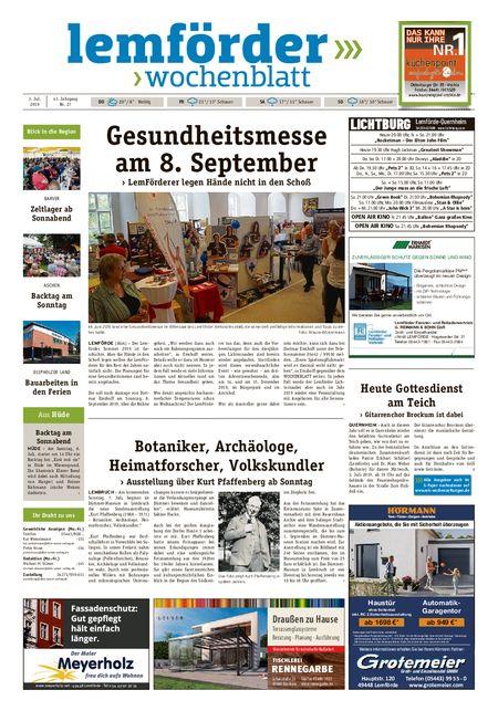 Lemförder Wochenblatt vom 03.07.2019