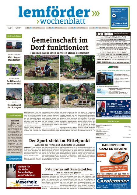 Lemförder Wochenblatt vom 24.07.2019