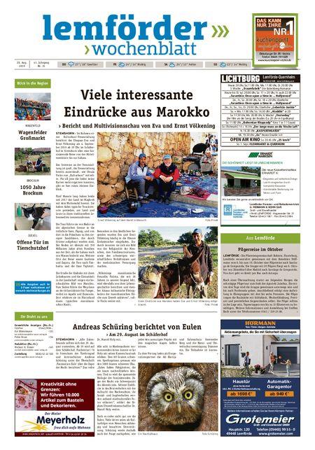 Lemförder Wochenblatt vom 28.08.2019