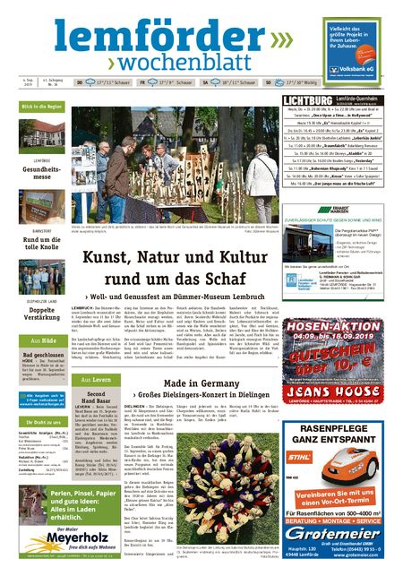 Lemförder Wochenblatt vom 04.09.2019