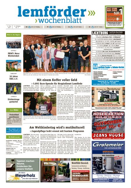 Lemförder Wochenblatt vom 11.09.2019