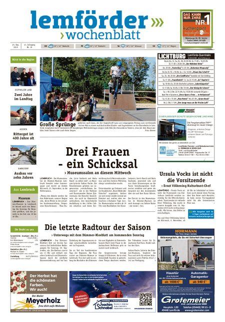 Lemförder Wochenblatt vom 25.09.2019