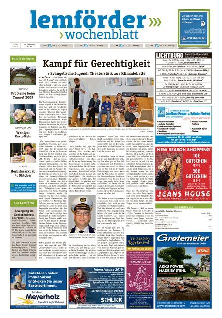 Lemförder Wochenblatt vom 02.10.2019