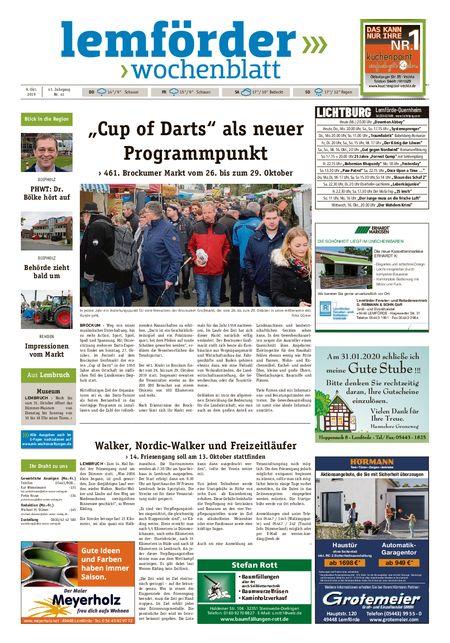 Lemförder Wochenblatt vom 09.10.2019