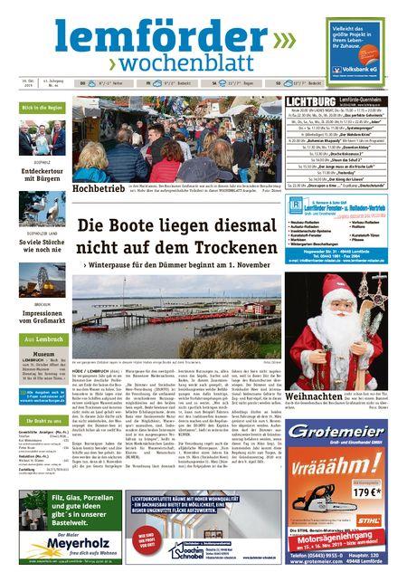 Lemförder Wochenblatt vom 30.10.2019