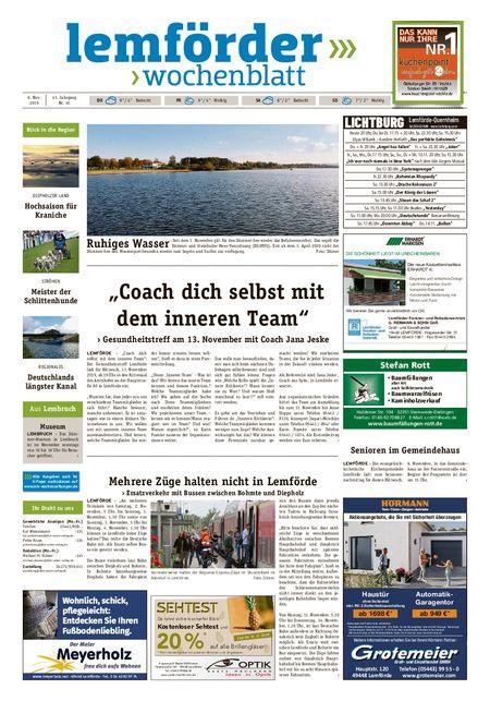 Lemförder Wochenblatt vom 06.11.2019