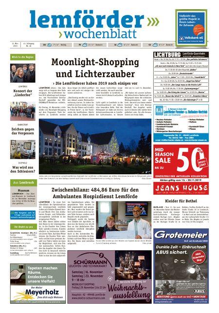 Lemförder Wochenblatt vom 13.11.2019