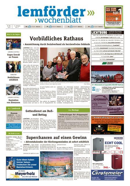 Lemförder Wochenblatt vom 20.11.2019